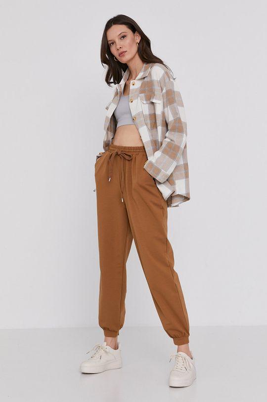 złoty brąz Answear Lab - Spodnie