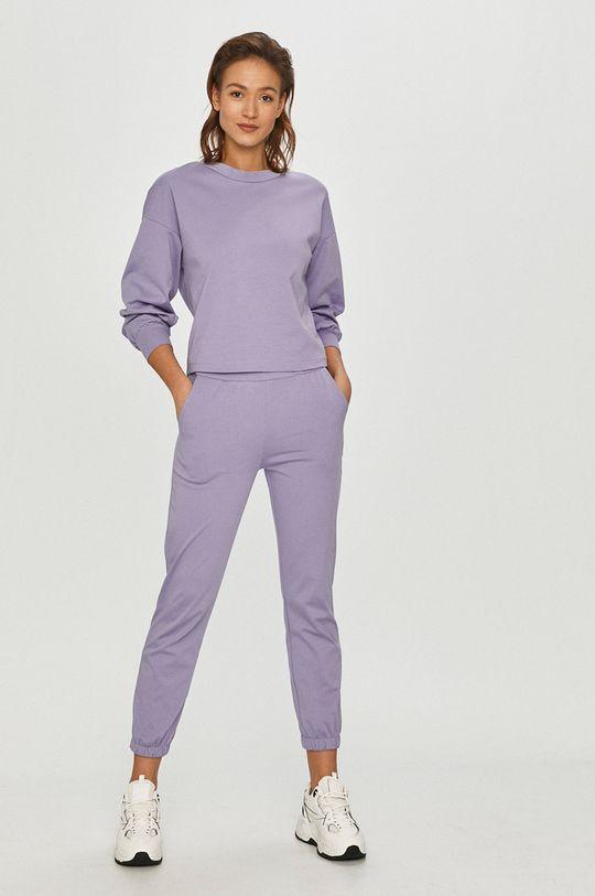 Answear Lab - Kalhoty levandulová