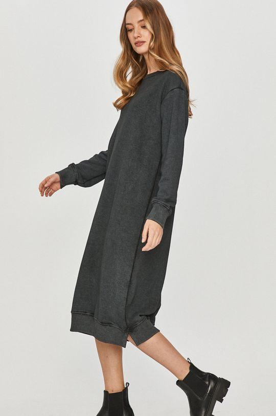 szary Answear Lab - Sukienka Damski