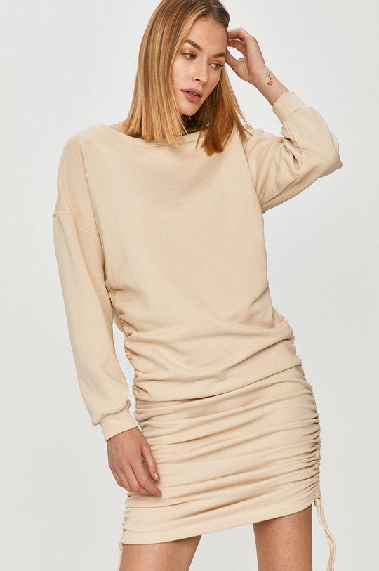 kremowy Answear Lab - Sukienka Damski
