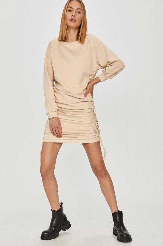 Answear Lab - Sukienka kremowy