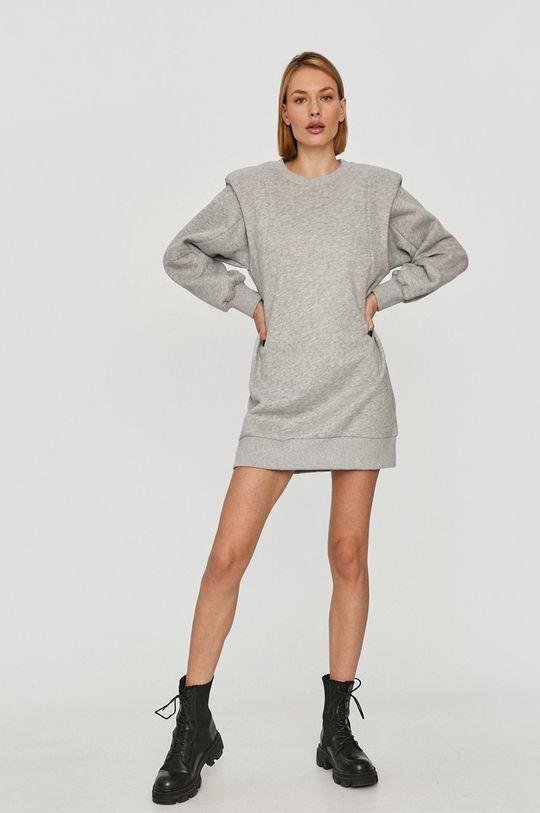 Answear Lab - Šaty sivá