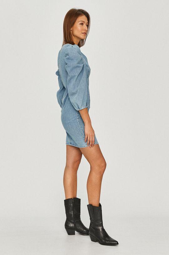 Answear Lab - Sukienka jeansowa niebieski