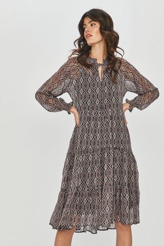 fialová Answear Lab - Šaty