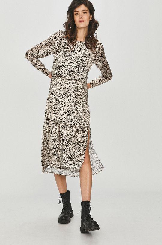 Answear Lab - Šaty krémová