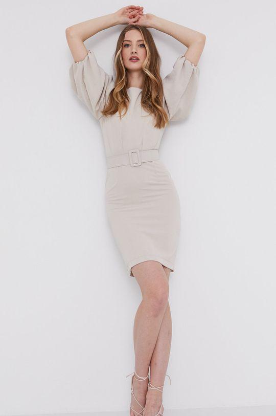 beżowy Answear Lab - Sukienka Damski