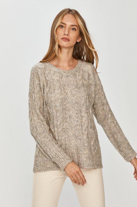 szary Answear Lab - Sweter z domieszką wełny