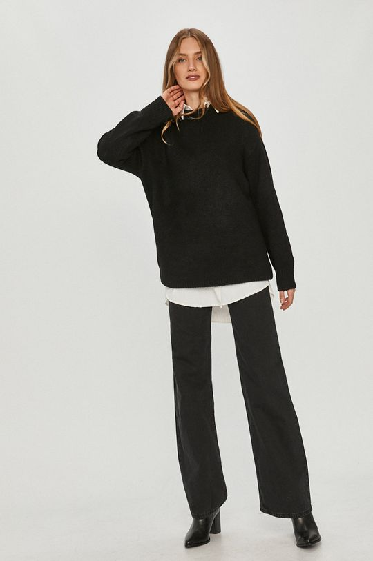 Answear Lab - Sweter z domieszką wełny czarny