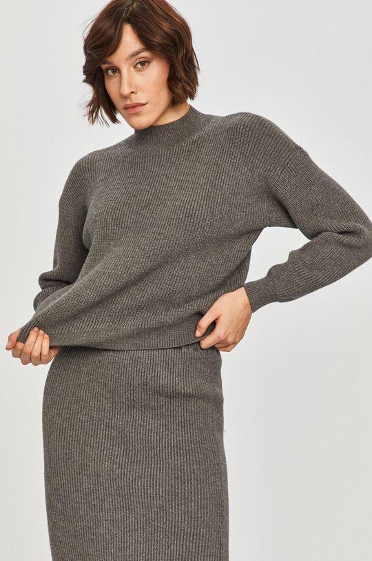 ciemny zielony Answear Lab - Sweter z domieszką wełny Damski