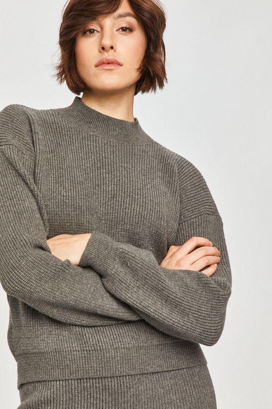 ciemny zielony Answear Lab - Sweter z domieszką wełny