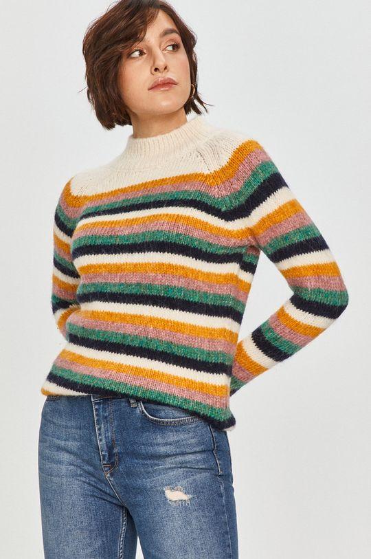 multicolor Answear Lab - Sweter z domieszką wełny