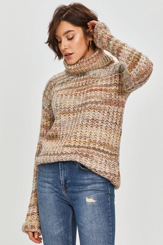 beżowy Answear Lab - Sweter z domieszką wełny Damski