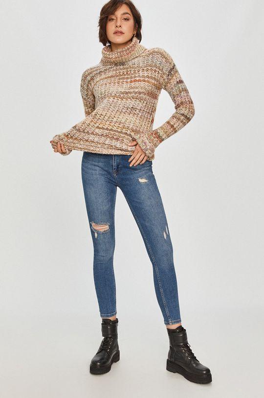 Answear Lab - Sweter z domieszką wełny beżowy