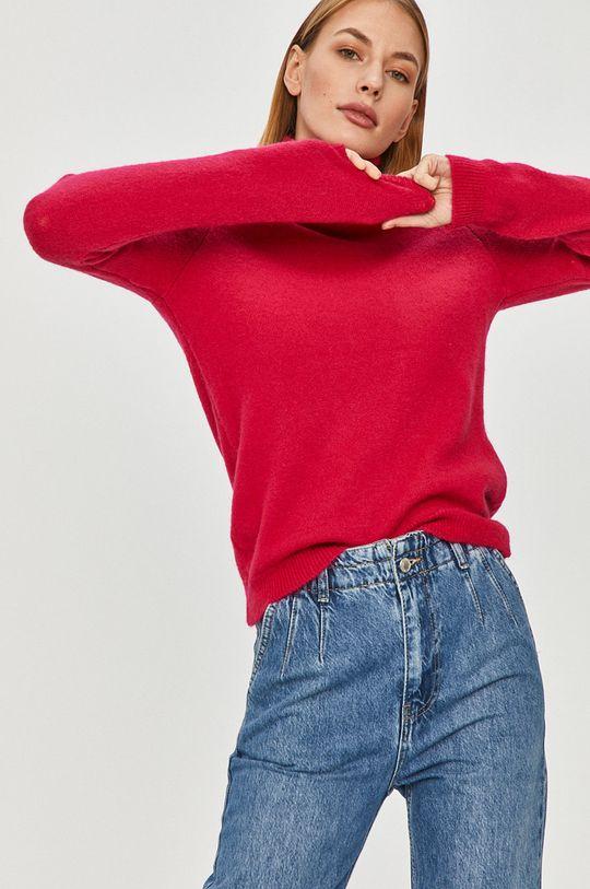 różowy Answear Lab - Sweter z domieszką wełny Damski
