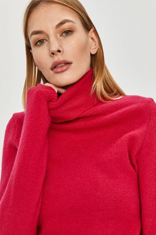 różowy Answear Lab - Sweter z domieszką wełny
