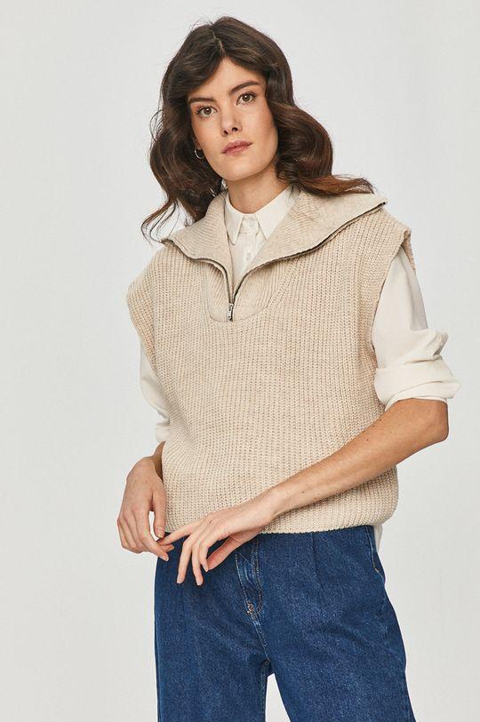 beżowy Answear Lab - Sweter Damski