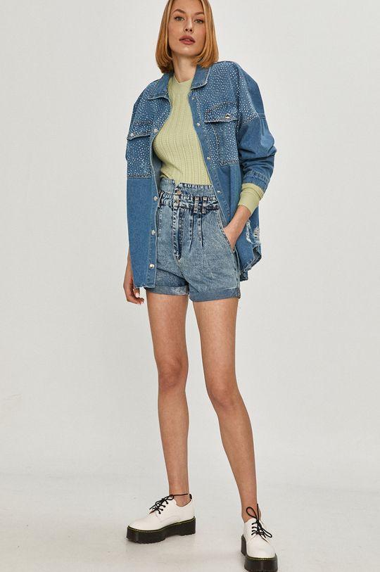 Answear Lab - Szorty jeansowe niebieski
