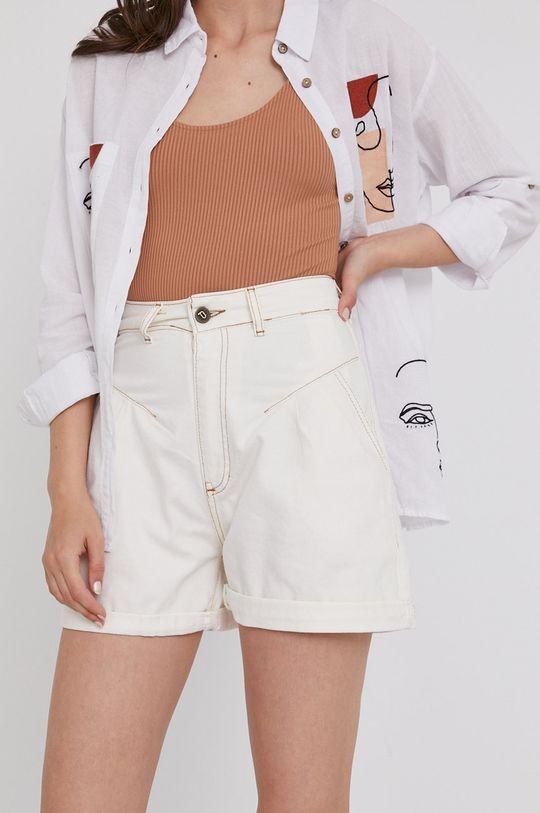 biały Answear Lab - Szorty jeansowe Damski