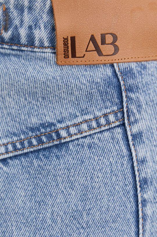 modrá Answear Lab - Bavlnené rifľové šortky