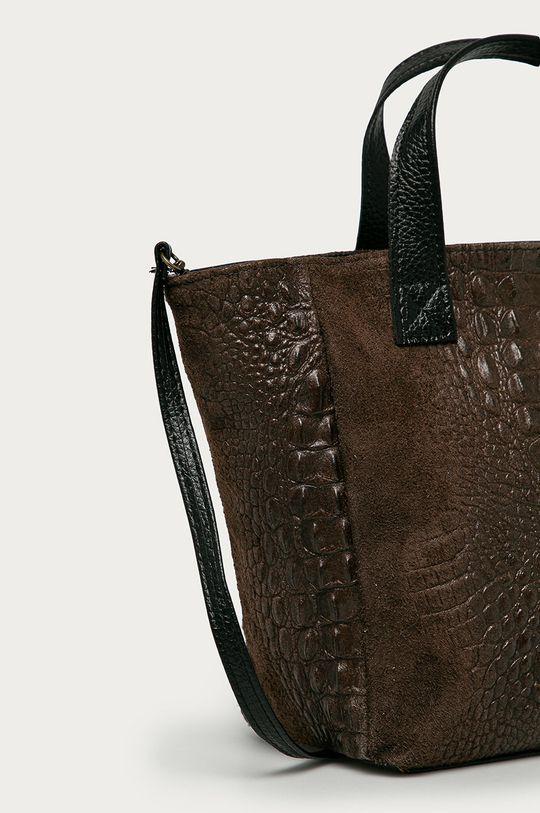 Answear Lab - Semišová kabelka  100% Přírodní kůže