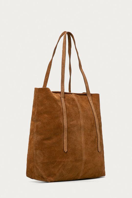 Answear Lab - Torebka zamszowa brązowy