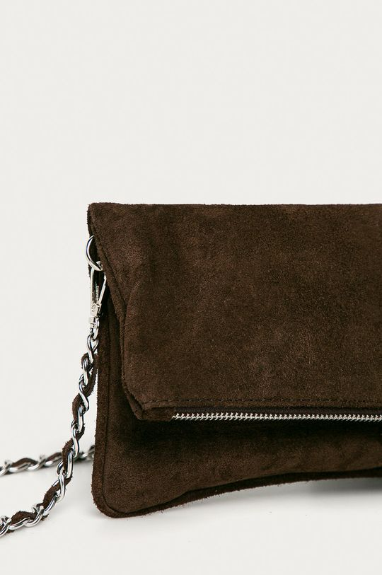 Answear Lab - Semišová kabelka  100% Semišová kůže