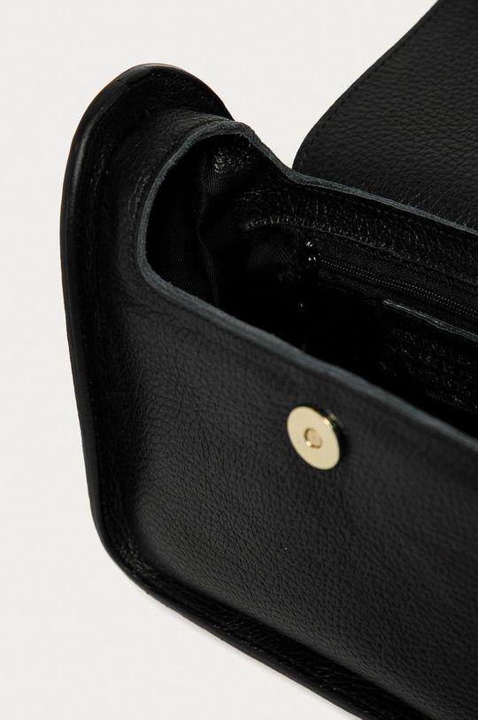 černá Answear Lab - Kožená kabelka