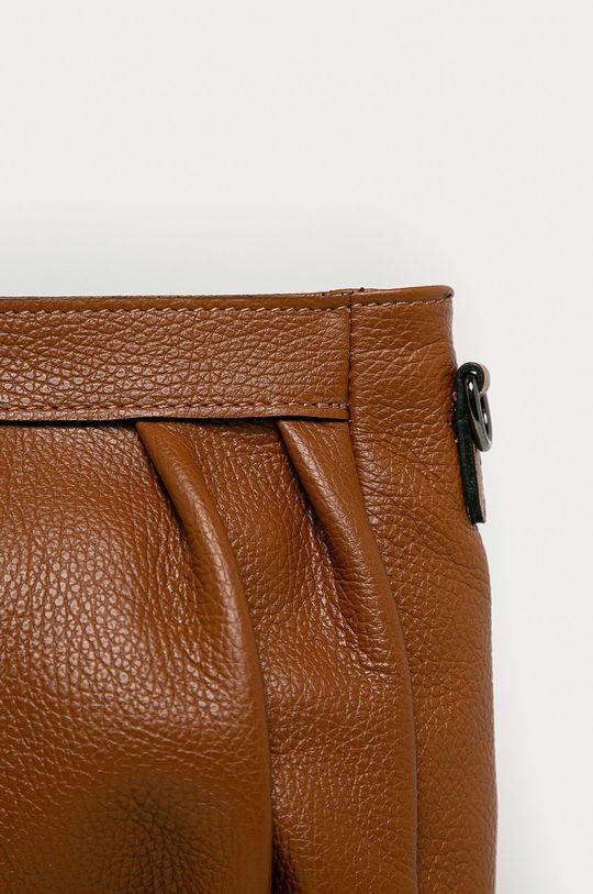 Answear Lab - Kožená kabelka zlatohnědá