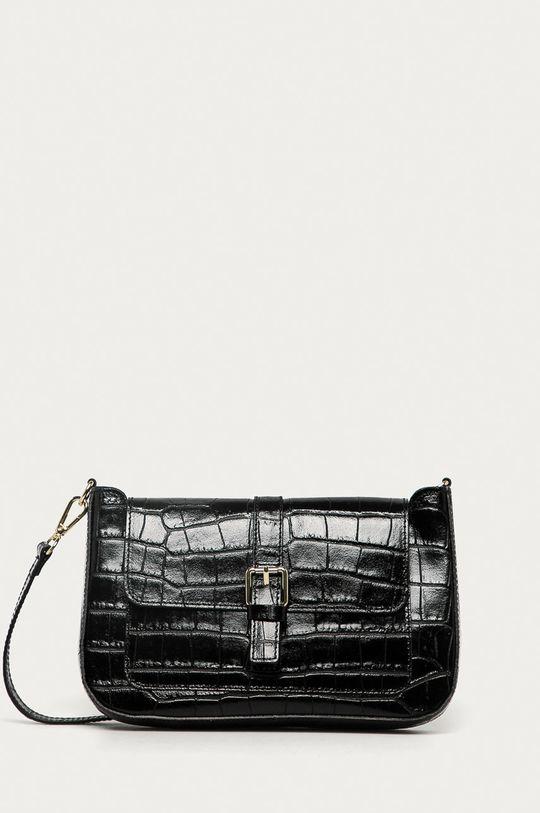 czarny Answear Lab - Torebka skórzana Damski