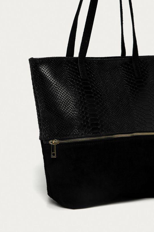 Answear Lab - Kožená kabelka  Základná látka: Prírodná koža, Semišová koža