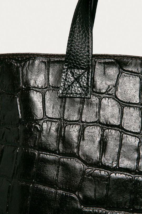 Answear Lab - Poseta de piele maro inchis