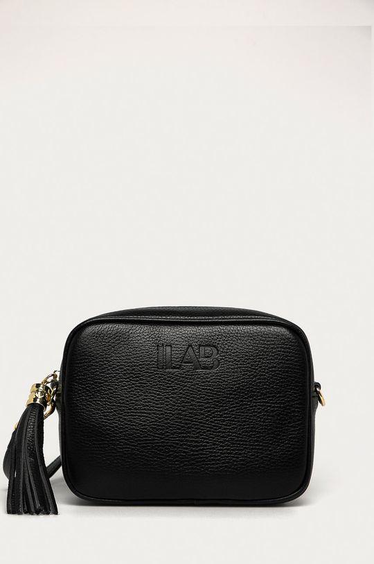 čierna Answear Lab - Kožená kabelka Dámsky