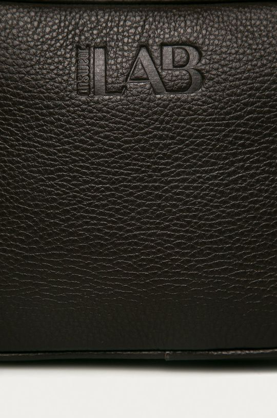 Answear Lab - Kožená kabelka tmavohnedá