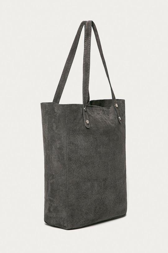 Answear Lab - Semišová kabelka sivá