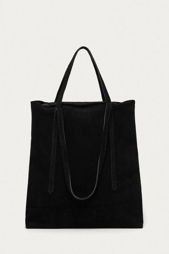 čierna Answear Lab - Semišová kabelka Dámsky