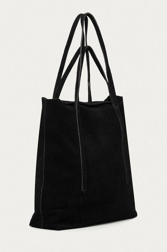 Answear Lab - Semišová kabelka čierna