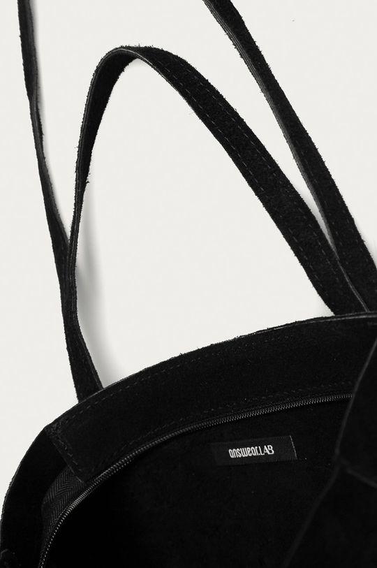 čierna Answear Lab - Semišová kabelka