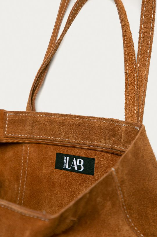 hnedá Answear Lab - Semišová kabelka