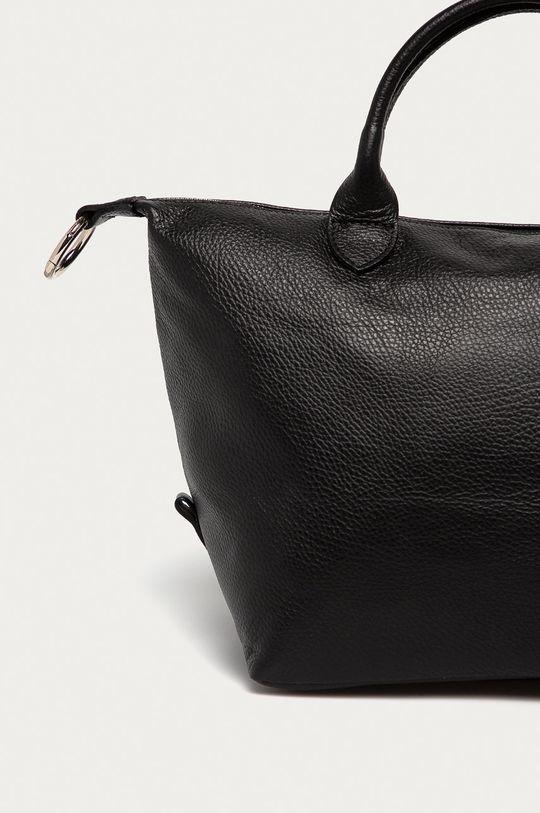 čierna Answear Lab - Kožená kabelka z narodeninovej kolekcie