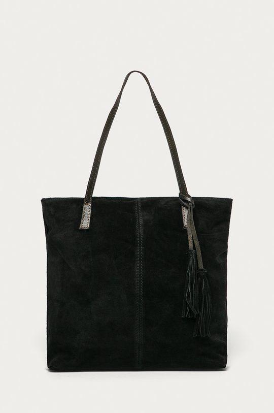 černá Answear Lab - Semišová kabelka Dámský