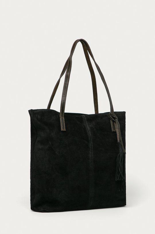 Answear Lab - Semišová kabelka černá