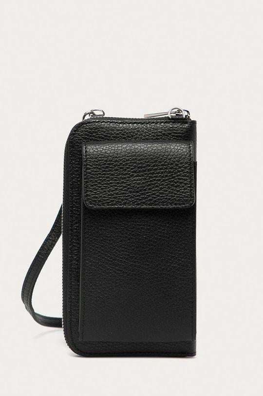 čierna Answear Lab - Kožená taška Dámsky