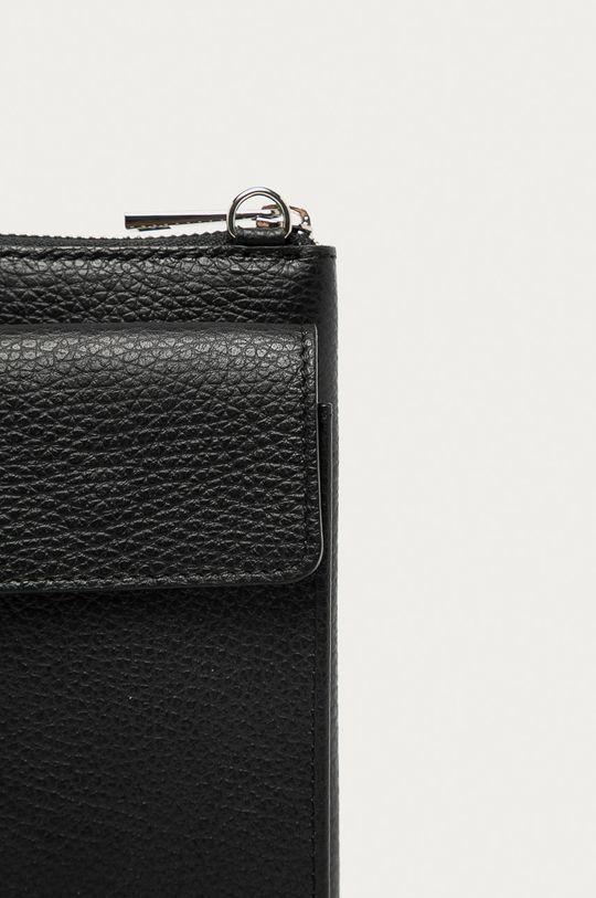 čierna Answear Lab - Kožená taška