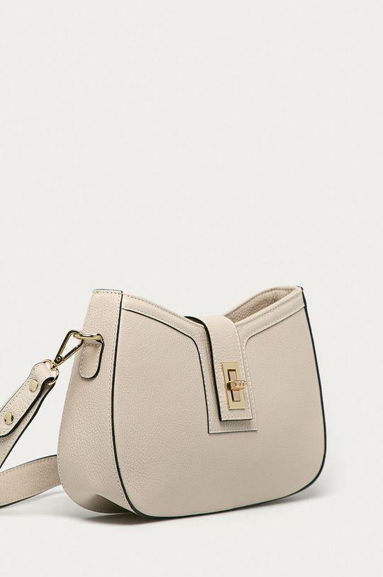 Answear Lab - Kožená kabelka z narodeninovej kolekcie béžová