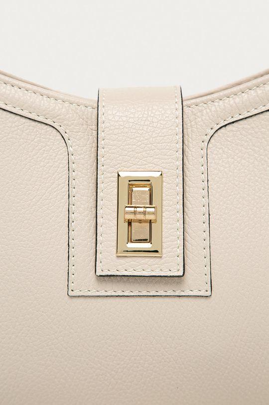 béžová Answear Lab - Kožená kabelka z narodeninovej kolekcie