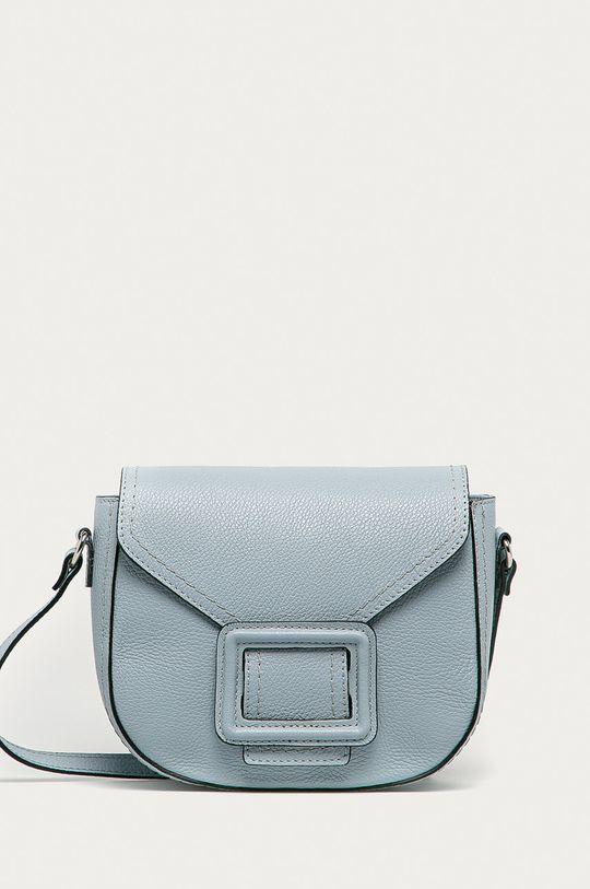 modrá Answear Lab - Kožená kabelka Dámský