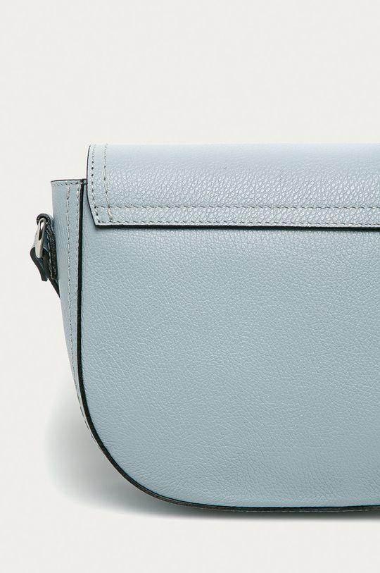 modrá Answear Lab - Kožená kabelka