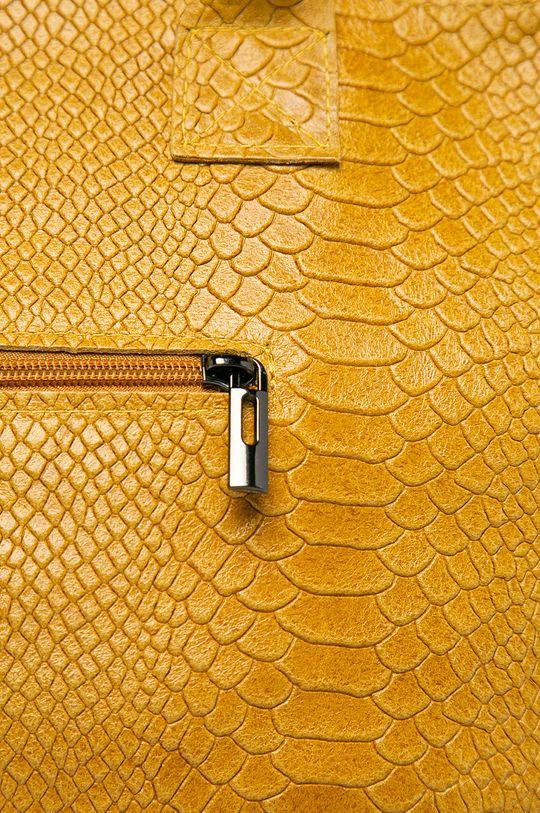 Answear Lab - Kožená kabelka žlutá
