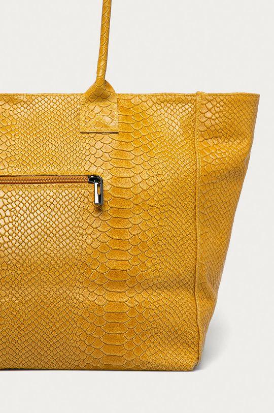 žlutá Answear Lab - Kožená kabelka