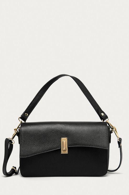 černá Answear Lab - Kožená kabelka z narozeninové kolekce Dámský